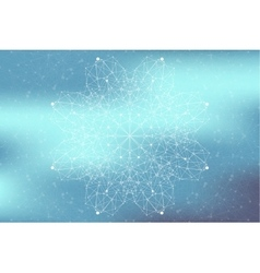 Geometric abstract connected line with dots Big vector image