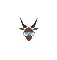 goat geek logo vector image