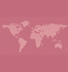Halftone world map background from circles vector