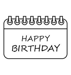 Happy birthday icon outline style vector
