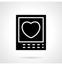 Heart card black silhouette icon vector image
