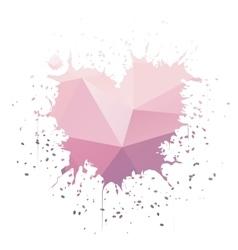 Heart-Shaped Ink Splatter vector image