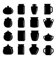 jar icon set vector image