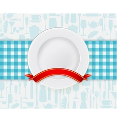 Kitchen plate vector image