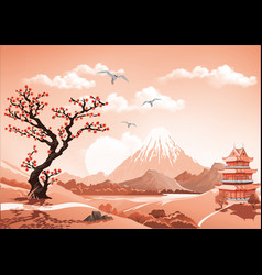 landscape of nature asia this morning asia palace vector image