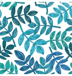 Leaves of tropical plants seamless pattern vector