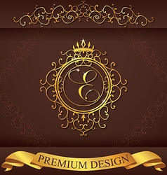 Letter E Luxury Logo template flourishes vector