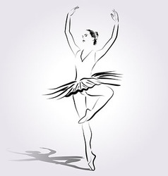 Line sketch of a ballerina vector