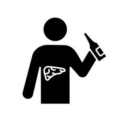 Liver cancer glyph icon vector