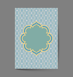 luxury cover page design with pattern background vector image