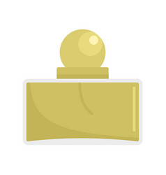 Men perfume icon flat style vector