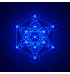 Metatrons Cube - Flower of life vector