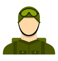 Military paratrooper icon flat style vector