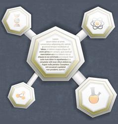 molecule infographics template vector image