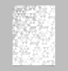 monochrome abstract brochure template design vector image