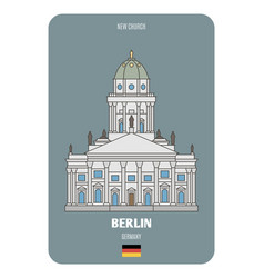 New church in berlin germany vector
