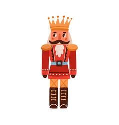 nutcracker vintage christmas toy festive xmas vector image