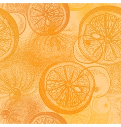 Oranges citrus Wallpaper seamless pattern vector image