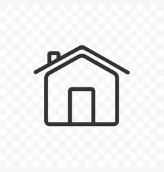 outline home or house icon isolated vector image