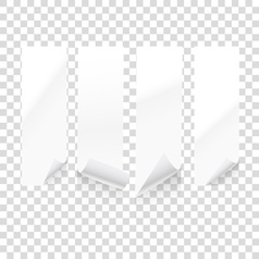 paper sheets isolated on transparent background i vector image