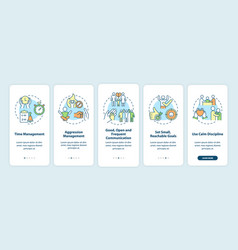 Parenting tips for adhd onboarding mobile app vector