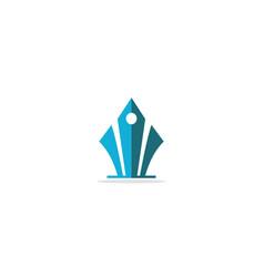 pen shape logo vector image