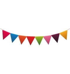 Pennant party celebration birthday icon vector image