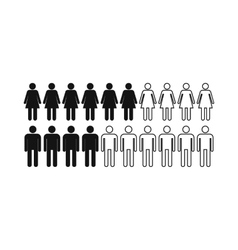 People icon simple style vector image