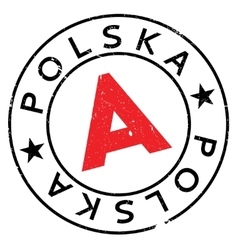 Polska Poland stamp vector