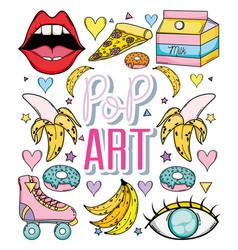 Pop art cartoon vector