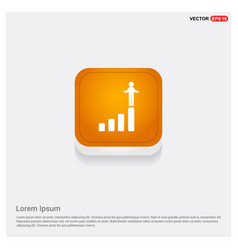 progress graph icon vector image