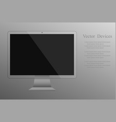 realistic transparent computer monitor isolated vector image