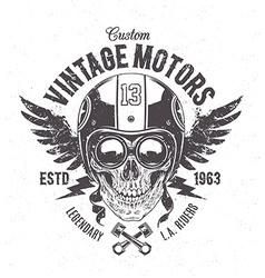Rider skull print vector