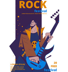 Rock music festival poster vector