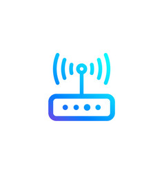 Router icon for web and apps vector