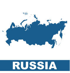 Russia map flat vector
