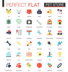 set flat pet friend icons vector image