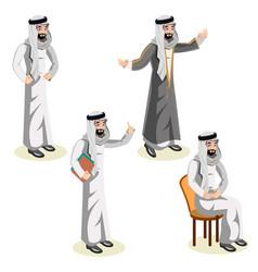 set of arab man character vector image