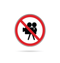 Sign for no camera color vector
