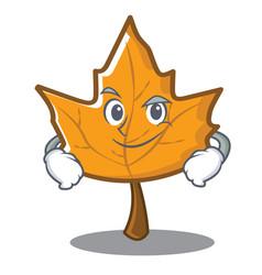 Smirking maple character cartoon style vector
