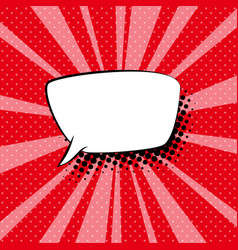 Speech bubble on red retro background vector