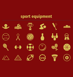 Sport equipment collection vector