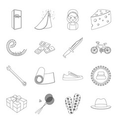 sports fitness wedding and other web icon in vector image