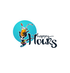 take your summer drink and enjoy our happy hour vector image