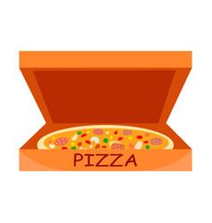 traditional italian pizza flat vector image