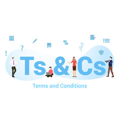 Ts cs terms and conditions concept with big word vector
