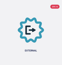 Two color external icon from user interface vector
