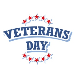 Veterans day usa logo isolated on white background vector