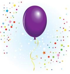 Violet balloon vector