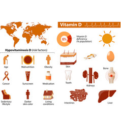 Vitamin D Medical infographics vector